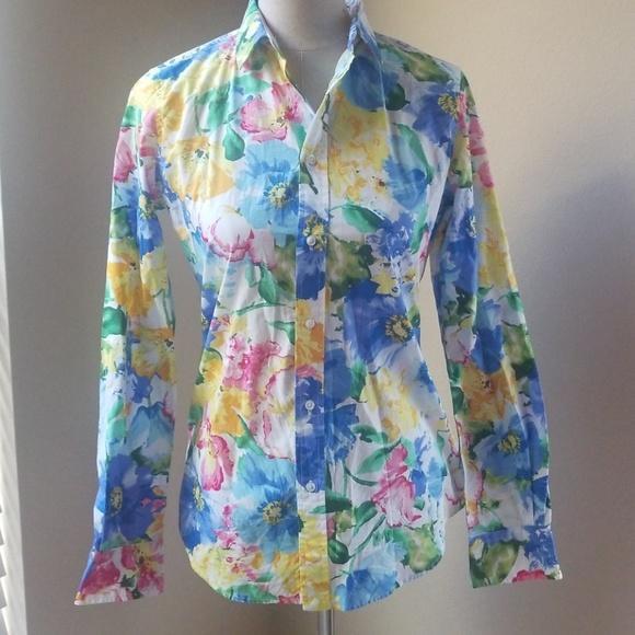 06e43e6959 Polo Ralph Lauren Multicolored Cotton Floral Print NWT